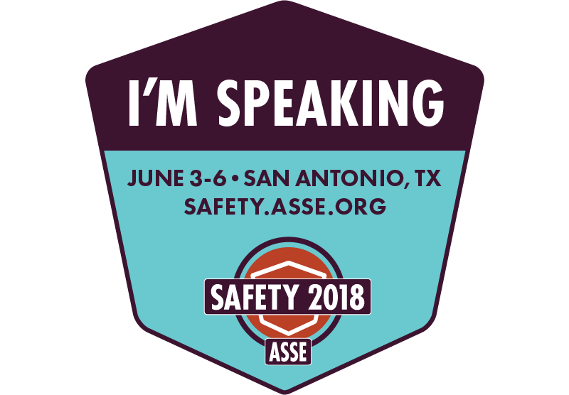 I Am Speaking at Safety 2018